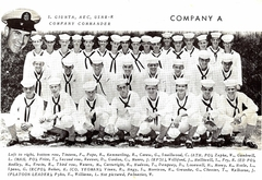 Mark in Boot Camp USMC Air Station Miami Opa-locka FL 8-1957 3rd row 1st from left