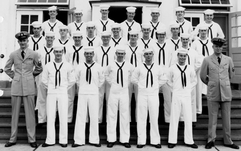 Mark in Class of 5824 AGA School NAS Lakehurst NJ 8-1958 4th row 2nd from left